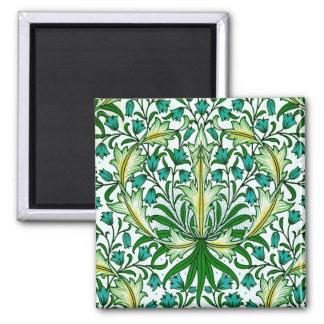 William Morris Gold Aqua Floral Wallpaper Magnet