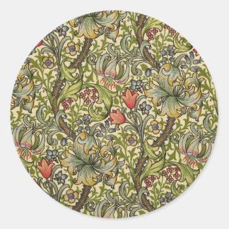 William Morris Golden Lily Classic Round Sticker