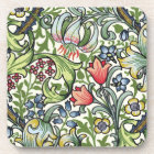 William Morris Golden Lily Floral Chintz Pattern Coaster