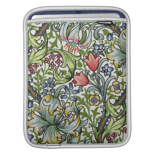 William Morris Golden Lily Floral Chintz Pattern iPad Sleeve