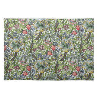William Morris Golden Lily Floral Chintz Pattern Placemat