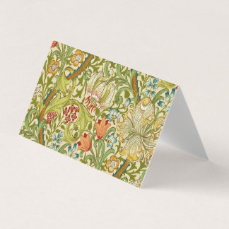 William Morris Golden Lily Vintage Pre-Raphaelite Business Card