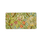 William Morris Golden Lily Vintage Pre-Raphaelite Label