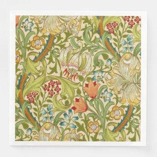 William Morris Golden Lily Vintage Pre-Raphaelite Paper Napkins