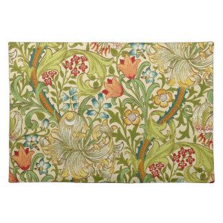 William Morris Golden Lily Vintage Pre-Raphaelite Place Mat