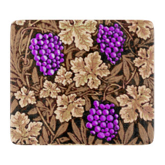 William Morris Grapevine, Brown and Purple Cutting Board