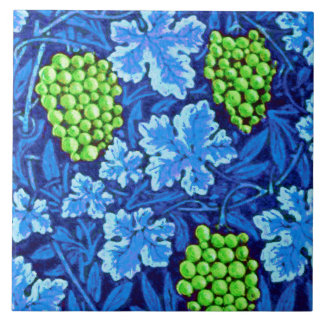 William Morris Grapevine, Cobalt Blue Ceramic Tile
