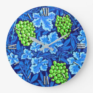 William Morris Grapevine, Cobalt Blue Wall Clock