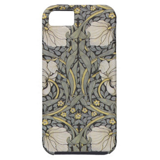 William Morris green and black floral iphone case