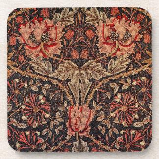 William Morris Honeysuckle Pattern Coaster