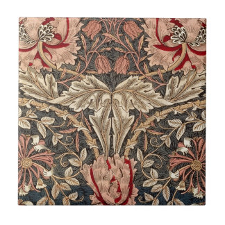 William Morris Honeysuckle Small Square Tile