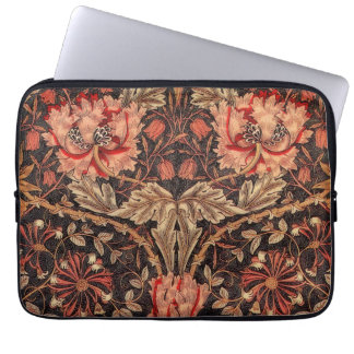 William Morris Honeysuckle Vintage Floral Laptop Sleeve