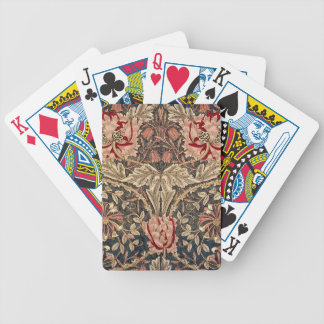 William Morris Honeysuckle Vintage Pattern Bicycle Playing Cards