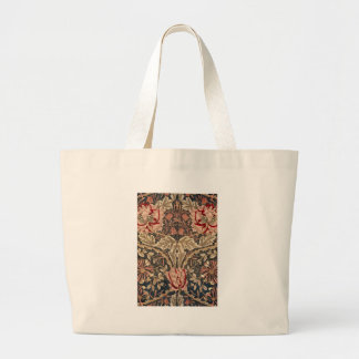 William Morris Honeysuckle Vintage Pattern Large Tote Bag