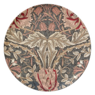 William Morris Honeysuckle Vintage Pattern Plate