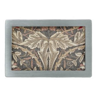 William Morris Honeysuckle Vintage Pattern Rectangular Belt Buckle