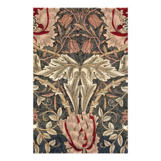 William Morris Honeysuckle Vintage Pattern Stationery