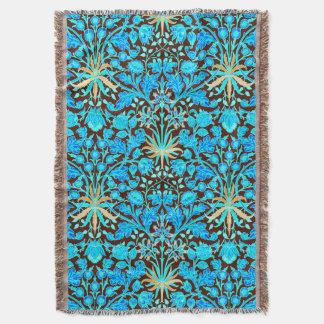 William Morris Hyacinth Print, Aqua and Brown