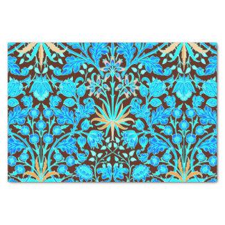 William Morris Hyacinth Print, Aqua and Brown Tissue Paper