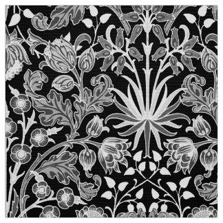 William Morris Hyacinth Print, Black and White Fabric