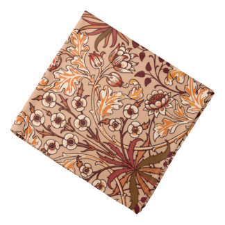 William Morris Hyacinth Print, Brown and Beige Bandana
