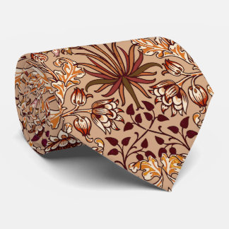William Morris Hyacinth Print, Brown and Beige Tie