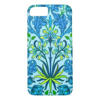 William Morris Hyacinth Print, Cerulean Blue iPhone 8/7 Case