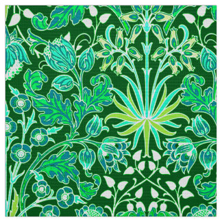 William Morris Hyacinth Print, Emerald Green Fabric