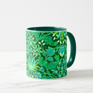 William Morris Hyacinth Print, Emerald Green Mug