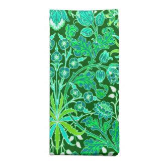 William Morris Hyacinth Print, Emerald Green Napkin