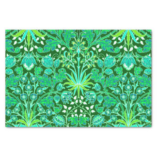 William Morris Hyacinth Print, Emerald Green Tissue Paper