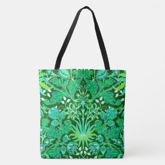 William Morris Hyacinth Print, Emerald Green Tote Bag
