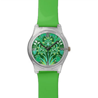 William Morris Hyacinth Print, Emerald Green Watch