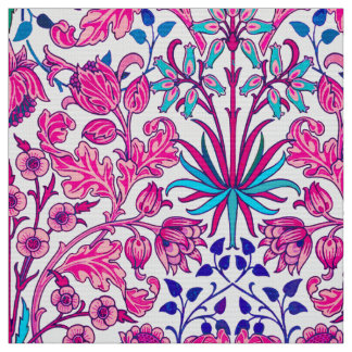 William Morris Hyacinth Print, Fuchsia Pink Fabric
