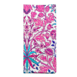 William Morris Hyacinth Print, Fuchsia Pink Napkin