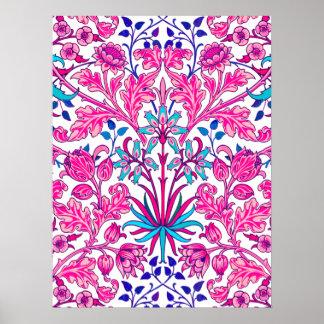 William Morris Hyacinth Print, Fuchsia Pink Poster