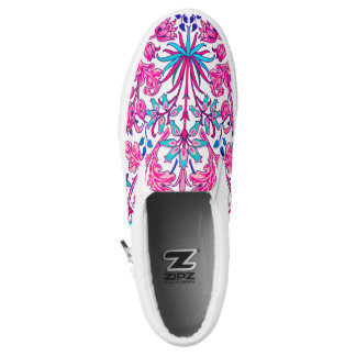 William Morris Hyacinth Print, Fuchsia Pink Slip-On Shoes