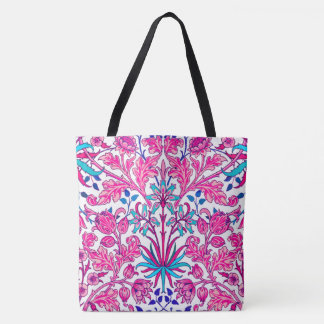William Morris Hyacinth Print, Fuchsia Pink Tote Bag
