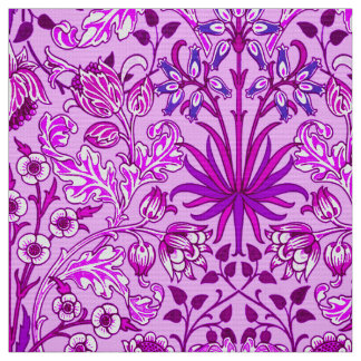 William Morris Hyacinth Print, Lavender and Violet Fabric