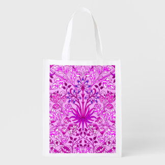 William Morris Hyacinth Print, Lavender and Violet Reusable Grocery Bag