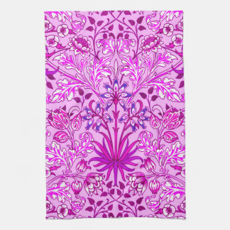 William Morris Hyacinth Print, Lavender and Violet Tea Towel