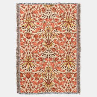 William Morris Hyacinth Print, Orange and Rust