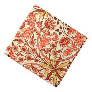 William Morris Hyacinth Print, Orange and Rust Bandana