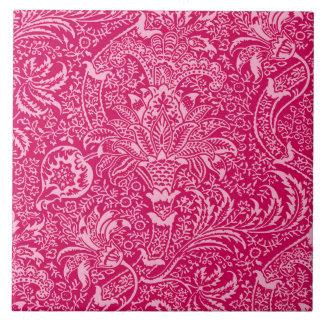 William Morris Indian, Deep Fuchsia Pink Ceramic Tile