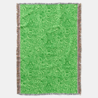 William Morris Indian, Lime and Kiwi Green Throw Blanket