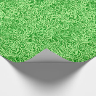 William Morris Indian, Lime and Kiwi Green Wrapping Paper