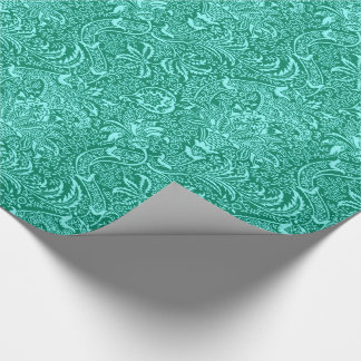 William Morris Indian, Turquoise and Light Aqua Wrapping Paper