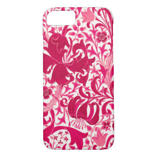 William Morris Iris and Lily, Fuchsia Pink iPhone 8/7 Case