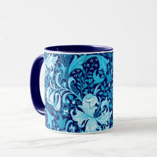 William Morris Iris and Lily, Indigo Blue Mug