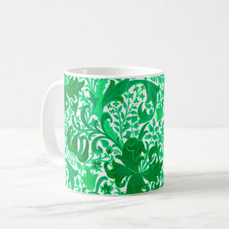 William Morris Iris and Lily, Jade Green Coffee Mug